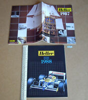 1987 Vintage Heller France Plastic Kit Catalogue + 1988 Supplement (B461)