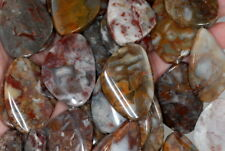 36X26MM MEXICAN LACE AGATE GEMSTONE TWIST NUGGET LOOSE BEADS