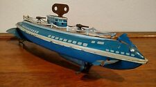 """Vintage Wolverine Submarine Wind Up Tin Litho Toy - """"The Pike"""""""