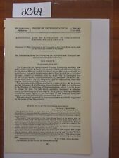 Govt Report 1893 Additional Aids to Navigation in Charleston Harbor, SC #2062A