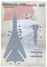 Print Scale Decals 1/48 SUKHOI Su-24M FENCER TECHNICAL STENCILS
