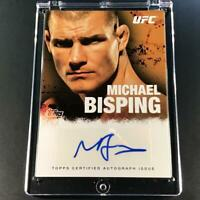 MICHAEL BISPING 2010 TOPPS UFC #FA-MB AUTOGRAPH AUTO MMA INSERT CARD