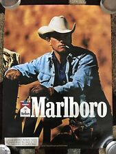 "Vintage Original Marlboro Cigarettes poster 16"" X 21 1/4"" Advertisement 1989 U.S"