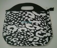 Pottery Barn Pb Teen Gear Up Black White Cheetah Lunch Bag Tote name Courtney