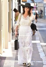 ELIE TAHARI Tayla White Lace Maxi Skirt As Seen On Celebrity Size 2 NWT $448