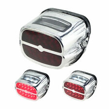 Chrome LED Brake Tail Light License Plate Lamp For Harley Fatboy Softail FLHT XL