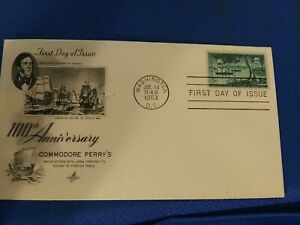Scott #1021 3 Cent Stamp Honoring Commodore Perry's Opening of Japan FDC