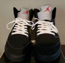 Air Jordan retro 5 Black Metallic [136027-004] [2007 Release] Size 12