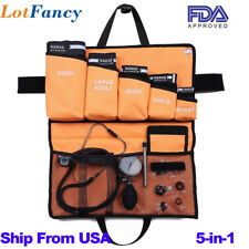 5-in-1 Palm Aneroid Sphygmomanometer Stethoscope Kit Adult/ Child / Infant Cuff
