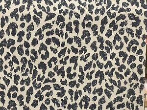 Cheetah Leopard Animal Print Wallpaper Skin Faux Vinyl Black Beige Modern Funky