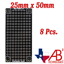 8 Pcs Black Pcb Proto Perf Boards Double Sided 25mm X 50mm Panel Of 8