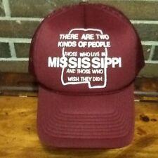Vintage Mississippi Meshback Snapback Trucker Hat, Two Kinds of People, Jackson