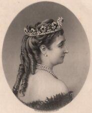 FRANCO-PRUSSIAN WAR. Eugenie, Empress Regent of France 1875 old antique print
