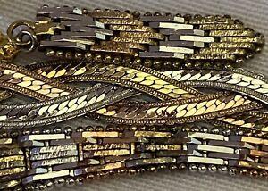 Vintage Milor Italy Sterling Silver Gold Rose Vermeil BRACELETS Earrings Lot