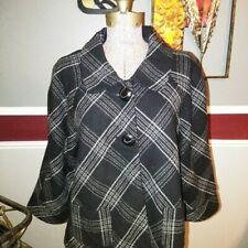 Motherwood plaid blazer jacket 3/4 sleeve sz L