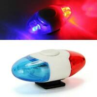 Police Bike Light Led Bicycle Lamp Cycling Safety Flashlight Blue Rear Red Tail