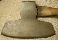 "VINTAGE ANTIQUE WM BEATTY BROAD AXE CHESTER PA CAST STEEL HEWING AXE 12"" X 8.5"""