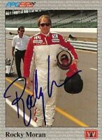 Rocky Moran 1991 All World Indy Signed Card Auto