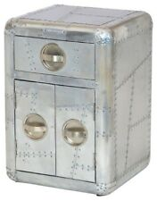 Aviator Aluminum SideTable with 1 drawer