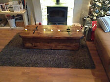 Midi Morbihan a rustic coffee table with storage