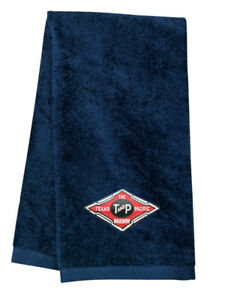 Texas and Pacific  Logo Embroidered Hand Towel 100% USA cotton terry velour