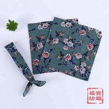 Cotton Flower Print Handkerchiefs Scarfs Kechiefs Square Hanky Women 55*55CM