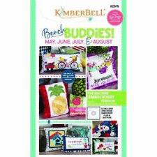 KimberBell Machine Embroidery CD ~ May - Aug Bench Buddy Pillow ~ KD575