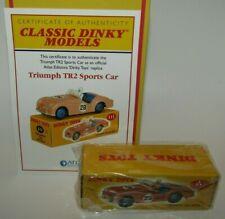 Atlas Dinky Replica No 111 Triumph TR2 Sports Pink- Sealed & COA