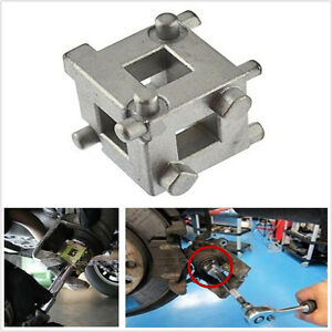 """1x 3/8"""" Drive Square Tool Car Rear Disc Brake Caliper Piston Rewind Cube Adaptor"""
