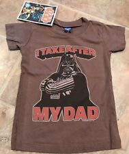 Darth Vader Star Wars T Shirt Newborn Junk Food NWT Boys Infant Brown