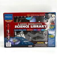 Encyclopedia Britannica 6 Book Interactive Science Library with Audio Reader Pen
