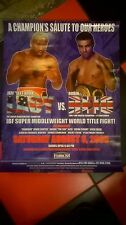"""ON SITE BOXING POSTER ,JEFF"""" LEFT HOOK"""" LACY V ROBIN REED ,  TAMPA BAY 2005"""