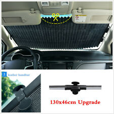 130x46cm Auto Shade Car Retractable Curtain UV Protection Windshield Sun Visors