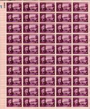 SHEET OF 50 U.S. 3 CENT POSTAGE STAMPS PRESIDENT ROOSEVELT WHITE HOUSE 1945 WWII