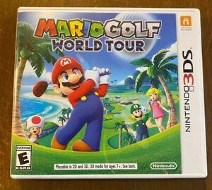 Mario Golf: World Tour (Nintendo 3DS) w/ Case and Manual