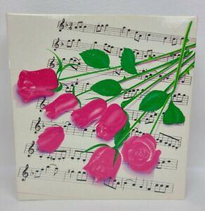 Lisa Frank ROSES ON SHEET MUSIC  3 Ring Binder 1988 VERY RARE AND HTF  ROSES