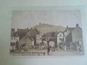 Newborough Gate, Scarborough From An Old Print - Vintage Postcard §D942