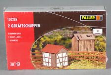 FALLER 130289 [Spur H0, Bausatz, Lasercut] - 2 Geräteschuppen - NEUWARE!