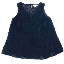 Coldwater Creek Womens Top Size Petite Medium 10 - 12 Sleeveless Black Rayon 27