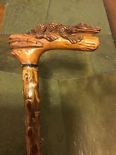 "Antique ""Classic"" Carved Alligator Walking Stick"