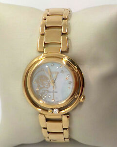 CITIZEN DISNEY BELLA DIAMOND ACCENT ROSE GOLD TONE WATCH EM0823-58D $825.00