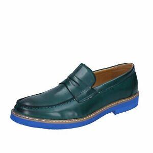 scarpe uomo SOLO SOPRANI mocassini verde scuro pelle sintetica BP327