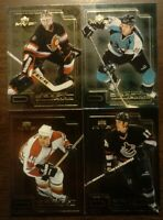 LOT OF 4 1999/2000 UD MVP Draft Report Cards - Canucks Flames Sharks COMB SHIP