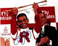 JOHN R VELAZQUEZ SIGNED 8X10 PHOTO HORSE RACING JOCKEY DUBAI WORLD CUP ROSES