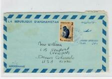 AFGHANISTAN: 1976 Air Mail cover to USA (C40025)