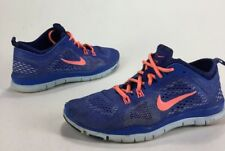 Womens Nike Free TR Fit 4 Running Shoes Blue Mango Size 7