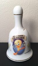 "You're My Favorite Grandma 3 3/4"" Tweety Bird Porcelain Bell 2000 Warner Bros."