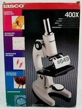 TASCO LM400 BIOLOGICAL MICROSCOPE. 400X