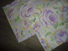 Pottery Barn Kids Alexis Purple Yellow Floral (2Pc) Standard Pillow Sham, P/Case