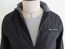 Levi's Wool Blend Hooded Baseball Varsity Jacket Solid Black Men's Small NWT